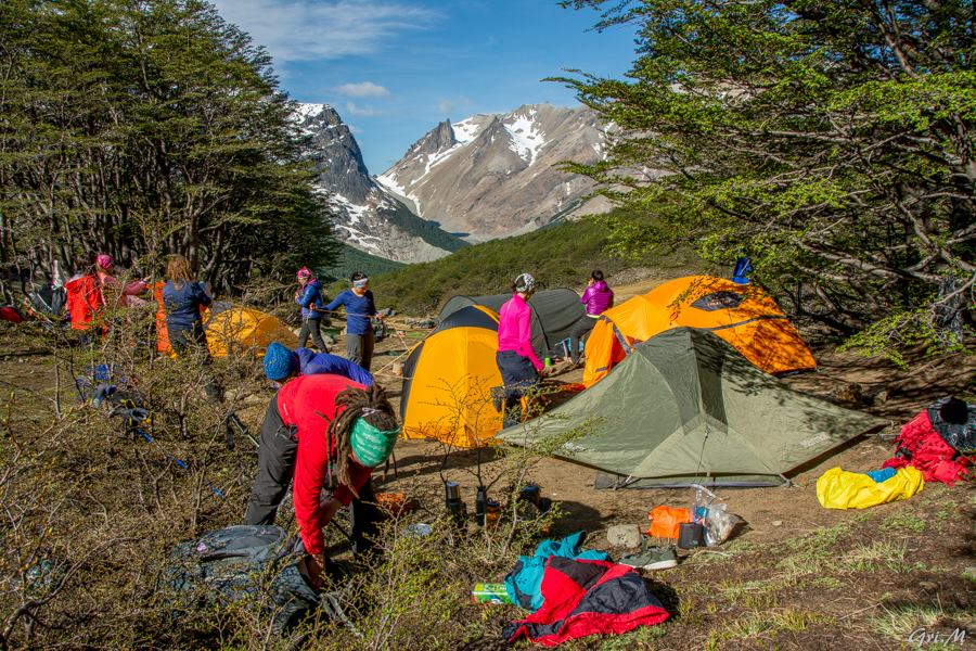 Mujeres Montana backpacked for three days and two nights in Cerro Castillo National Park during their 5th annual meeting in Chilean Patagonia. Photo: Griselda Moreno