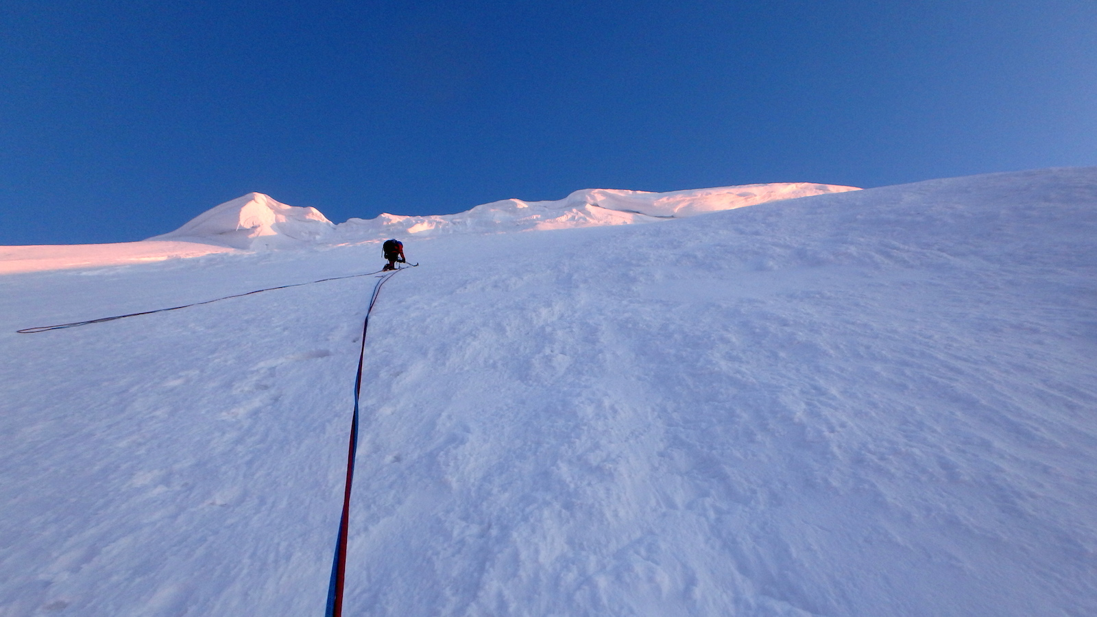 Martinez climbs snow slopes below Mt. Malaspina's East Col. [Photos] Natalia Martinez, Camilo Rada
