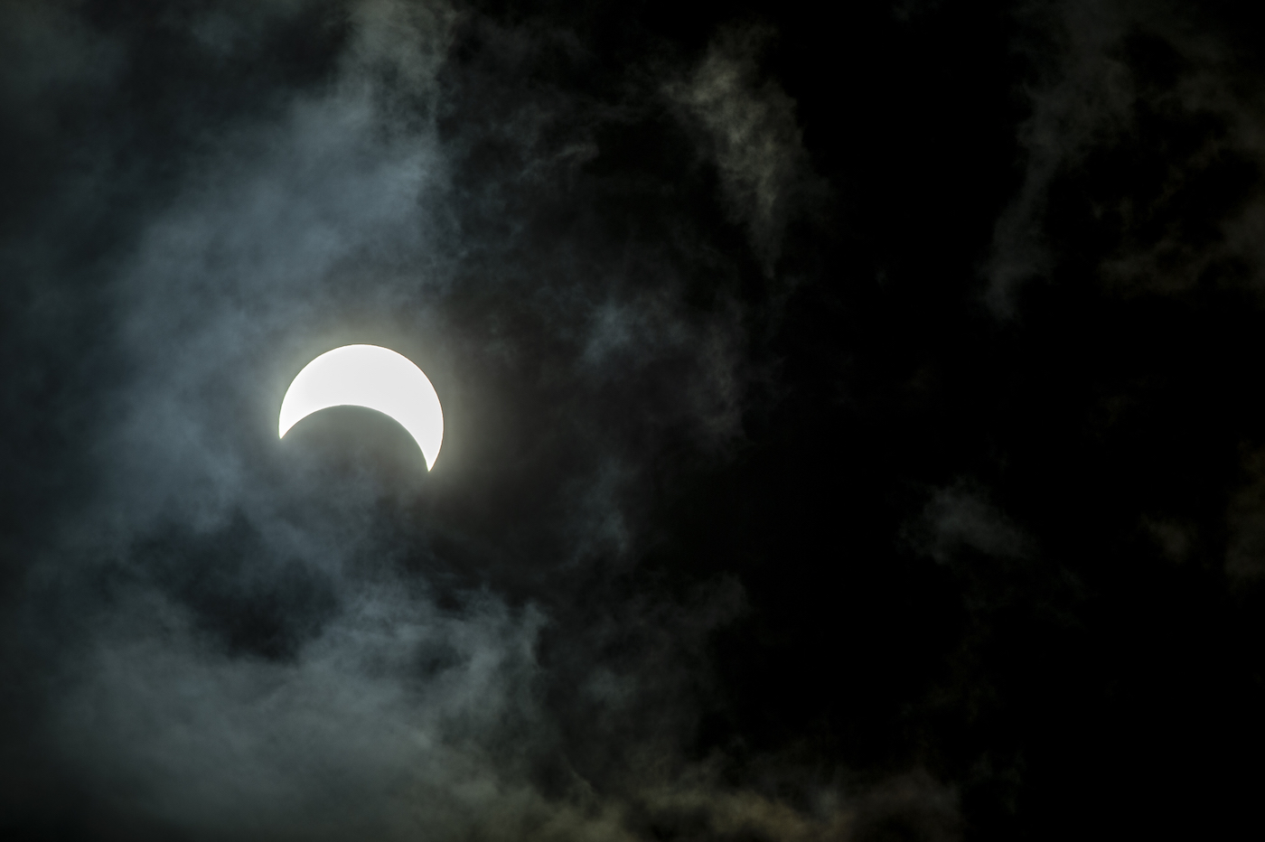 Eclipse from Tierra del Fuego. Photo: Eduardo Hernandez
