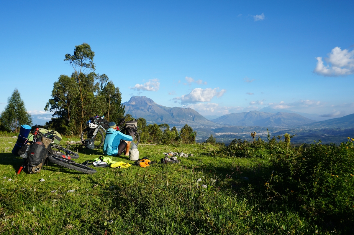 Enjoying the view in Ecuador. Photo: The Spoken Tour